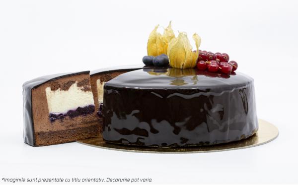 TORT DeLIGHT - CHOCO & BLUEBERRY Desert cu conținut redus de zahăr <5%